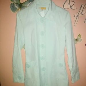 Mint Green PeaCoat by Tulle. Size Small